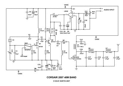 Radio Mia - Corsair Transmitter - Circuit