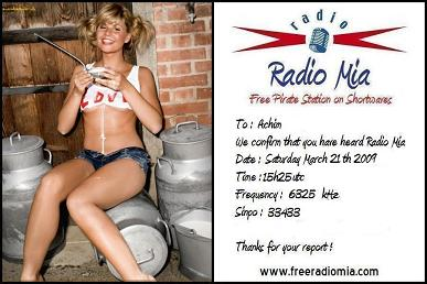 Radio Mia - QSL Card